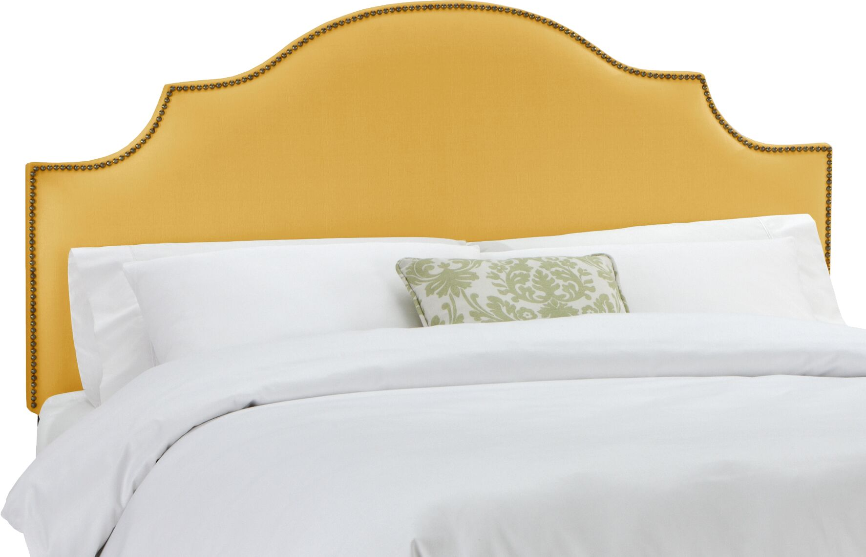 Rosecrans Linen Upholstered Panel Headboard Size: Queen, Upholstery: French Yellow