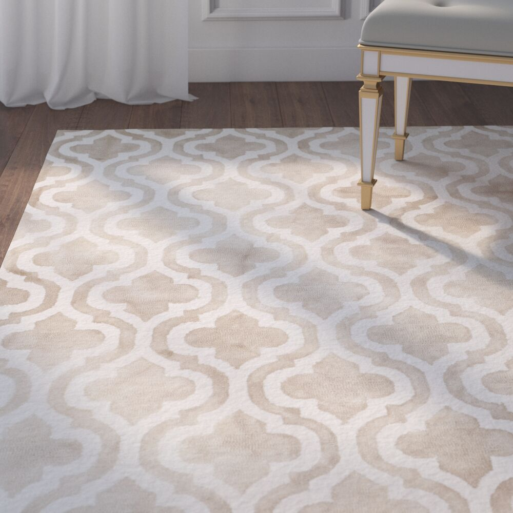 Blakeston Hand-Tufted Beige/Ivory Area Rug Rug Size: Rectangle 6' x 9'