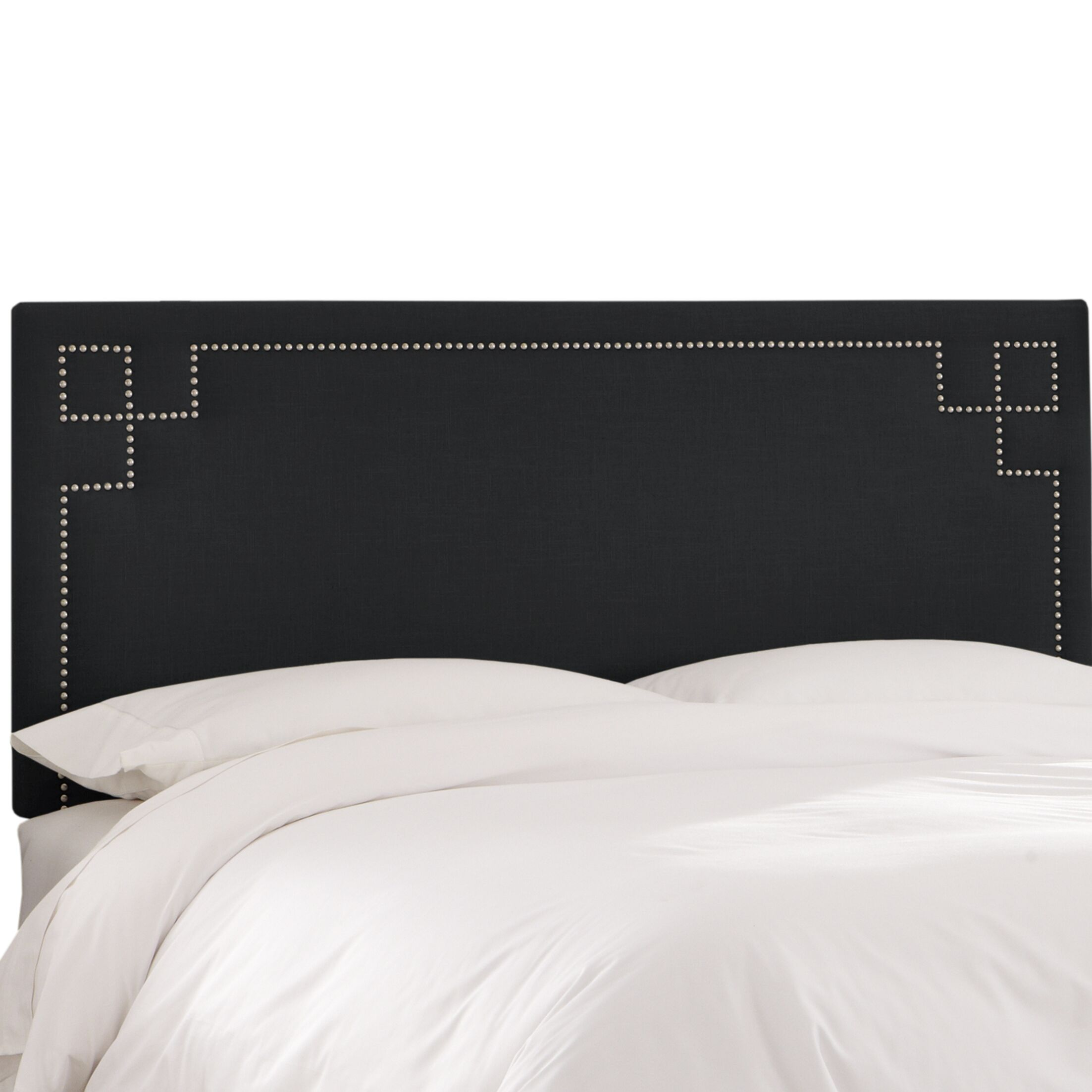 Diego Upholstered Panel Headboard Size: California King, Upholstery Color: Black