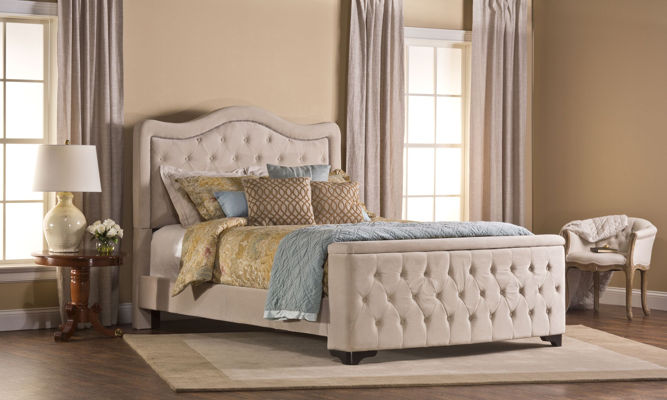 Lubitsch Upholstered Panel Bed Size: Queen, Color: Buckwheat