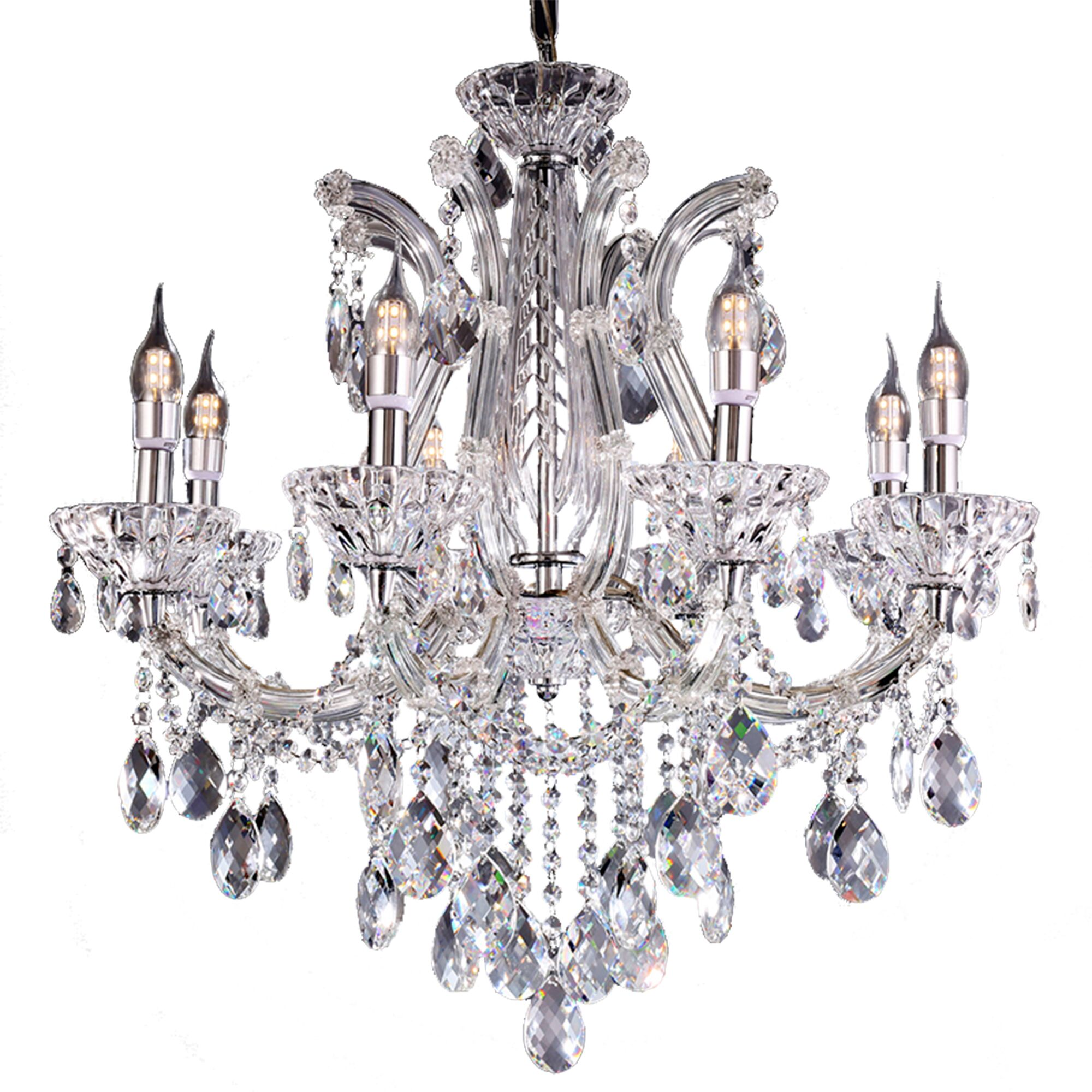 Almandine 8-Light Candle Style Chandelier