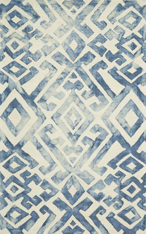 Phoebe Hand-Tufted Blue Area Rug Rug Size: Rectangle 9'6