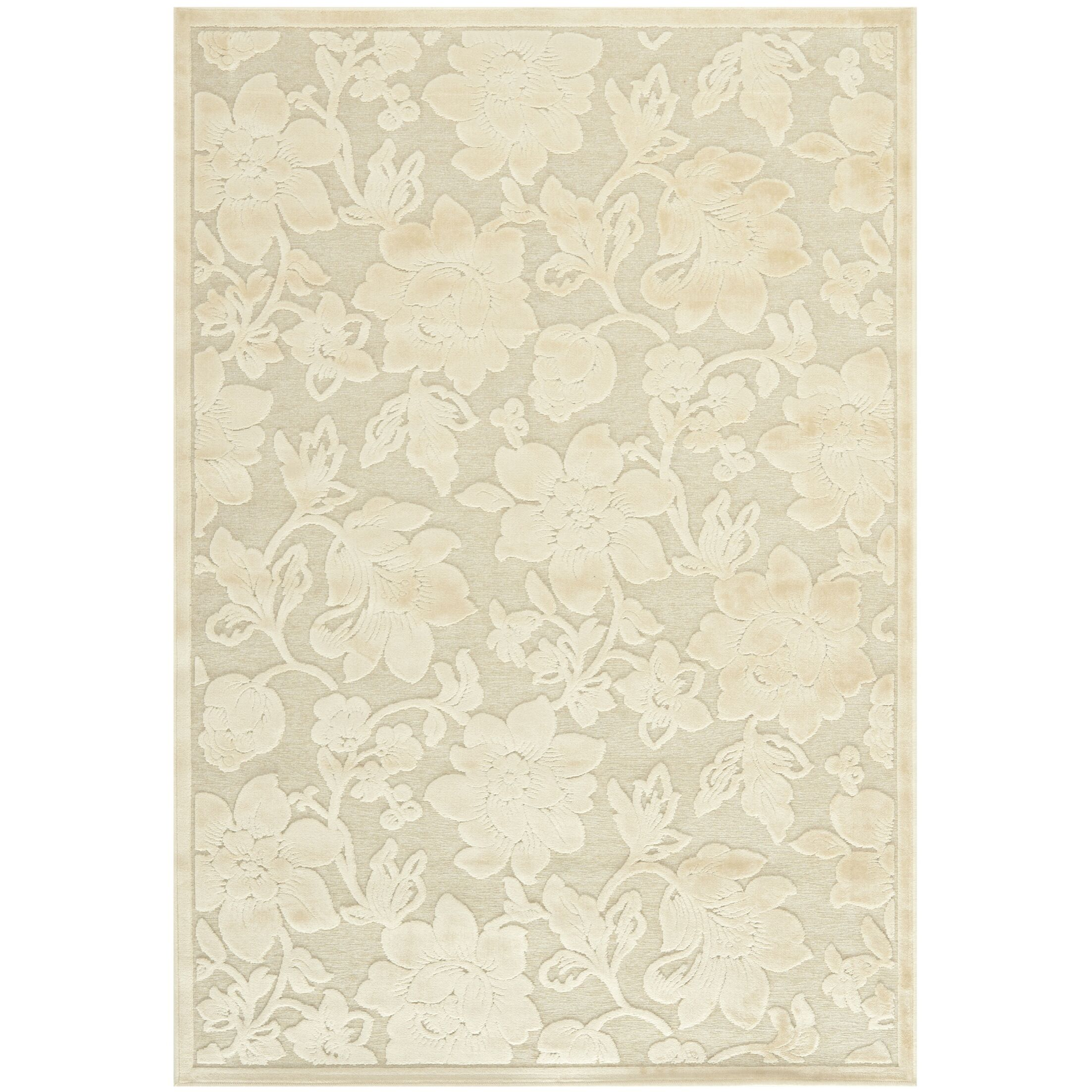 Maspeth Creme Country & Floral Rug Rug Size: Rectangle 4' x 5'7