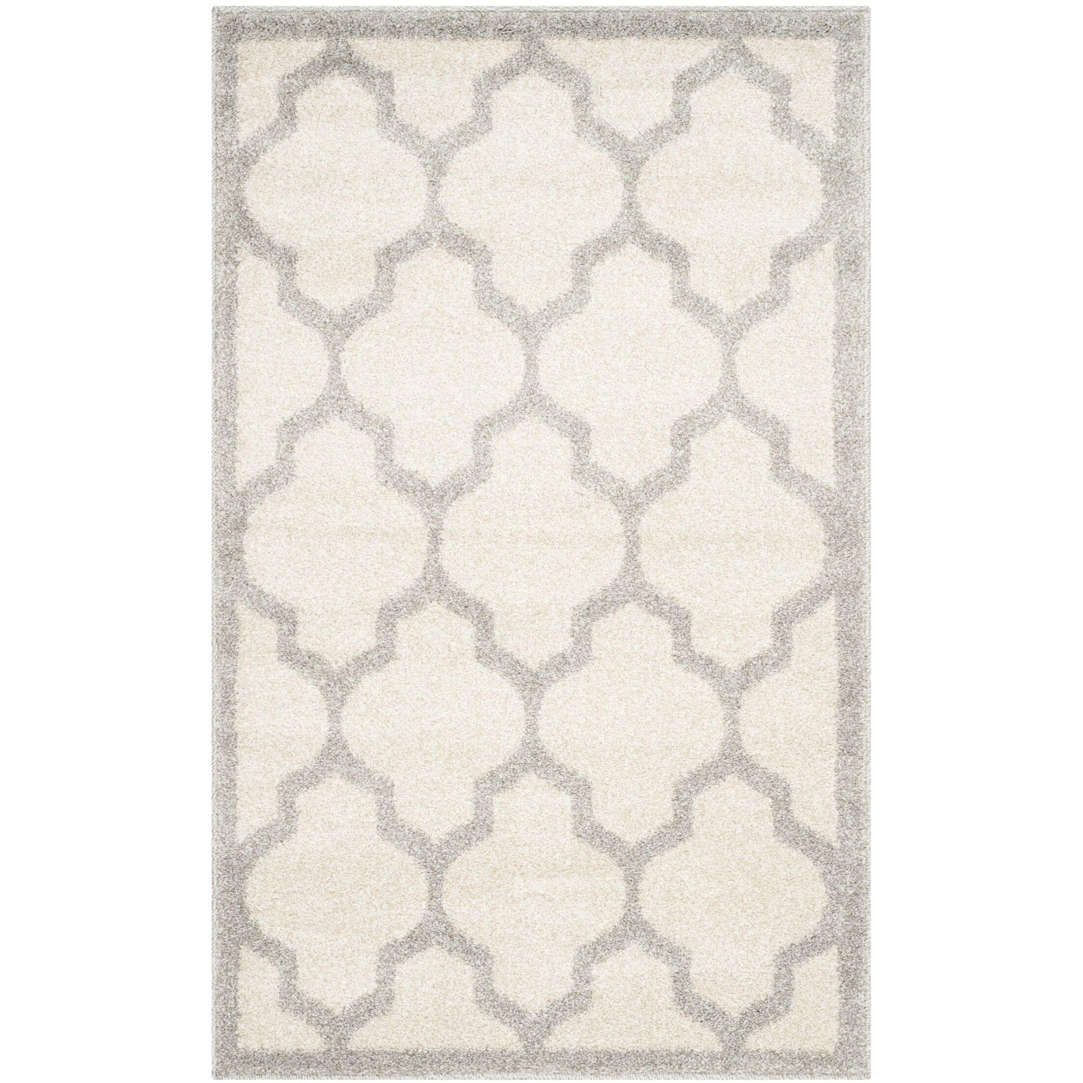 Maritza Beige/Light Grey Flat Woven Area Rug Rug Size: Square 9'