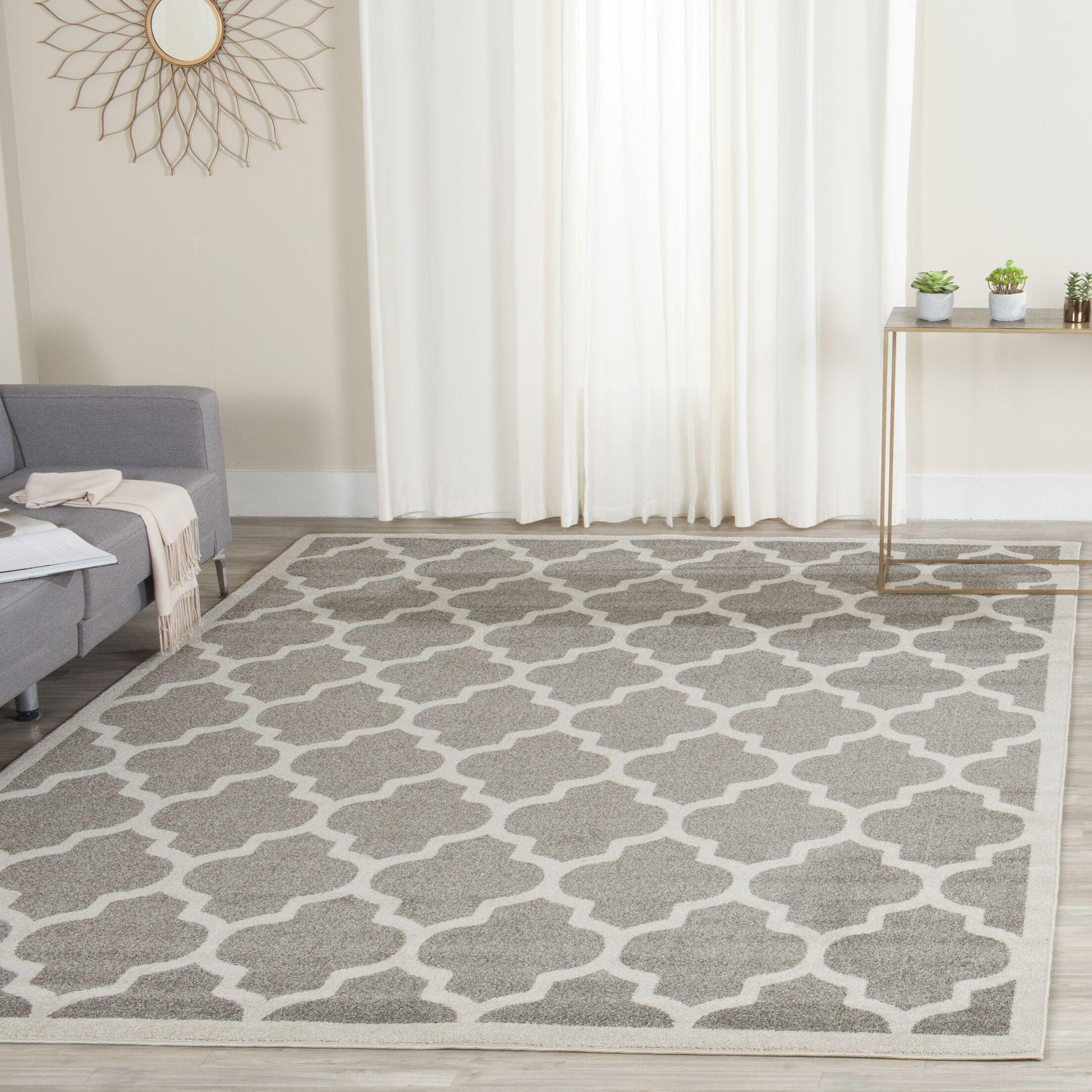 Maritza Trellis Dark Grey/Beige Area Rug Rug Size: Rectangle 8' x 10'