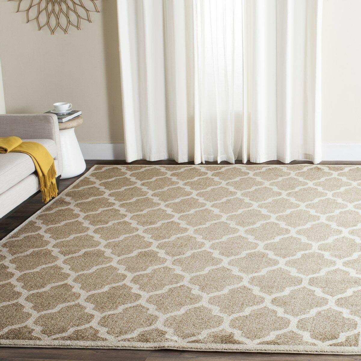 Maritza Wheat/Beige Woven Area Rug Rug Size: Rectangle 11' x 16'