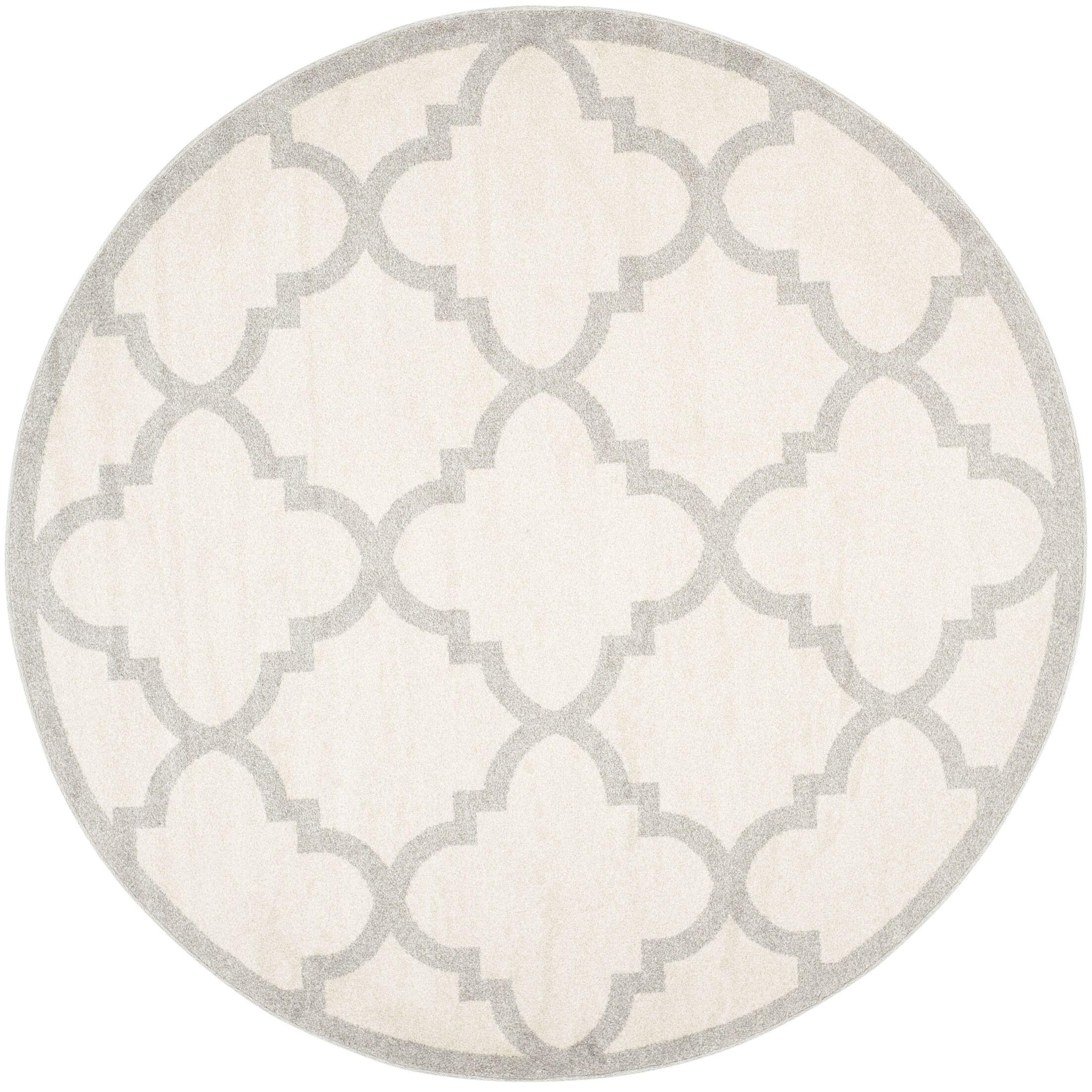 Maritza Beige & Light Gray Indoor/Outdoor Area Rug Rug Size: Round 7'
