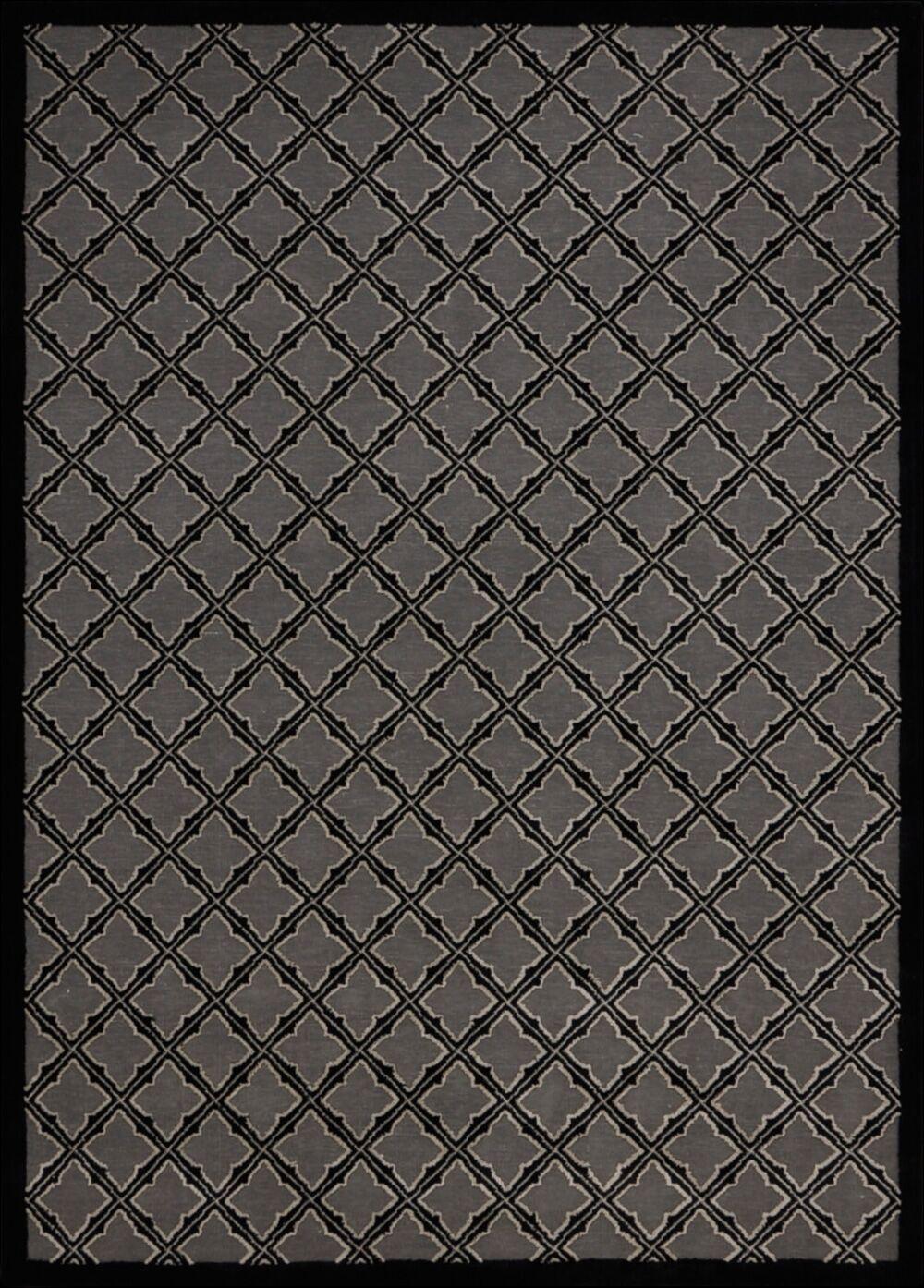 Hartz Silver/Black Area Rug Rug Size: Rectangle 5'3