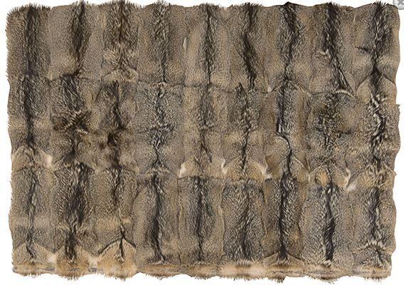 Surrey Hand-Woven Faux Fur Dark Gray Area Rug