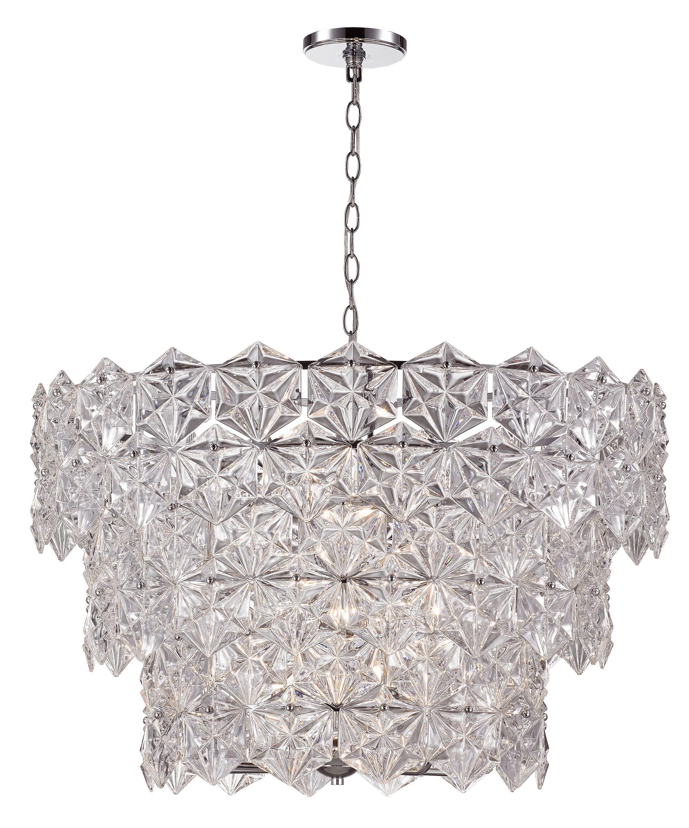 Burton 9-Light Crystal Chandelier