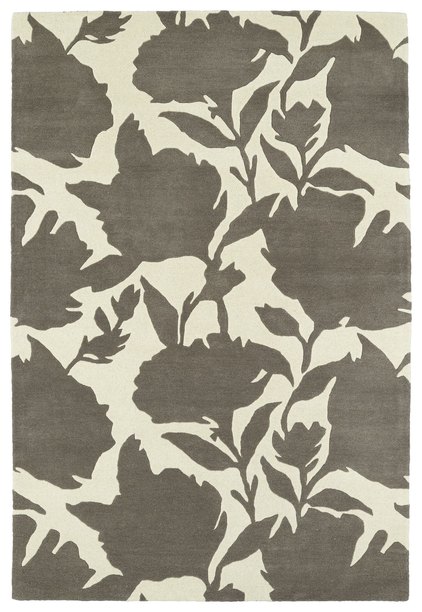 Marquain Hand-Tufted Grey / Ivory Area Rug Rug Size: Rectangle 9' x 12'