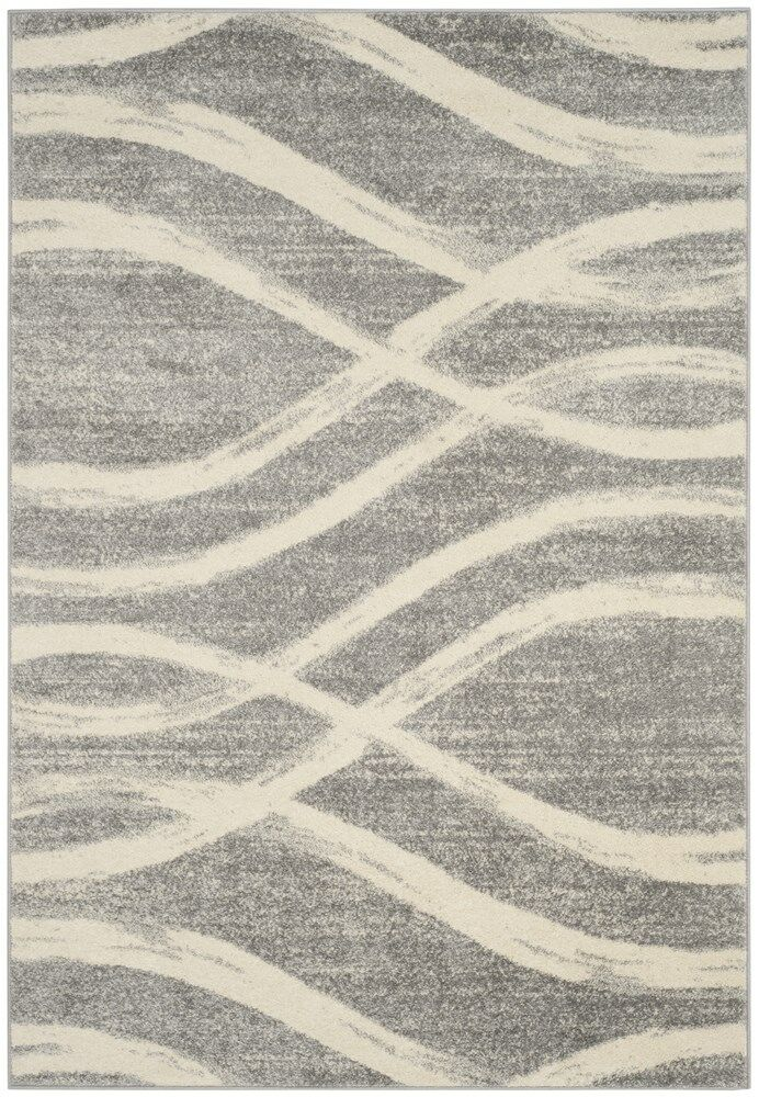 Marlee Gray/Cream Area Rug Rug Size: Rectangle 6' x 9'