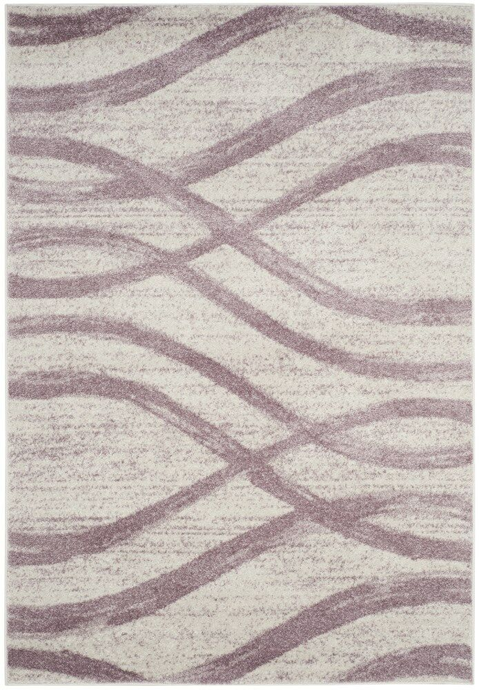 Marlee Cream/Purple Area Rug Rug Size: Rectangle 6' x 9'