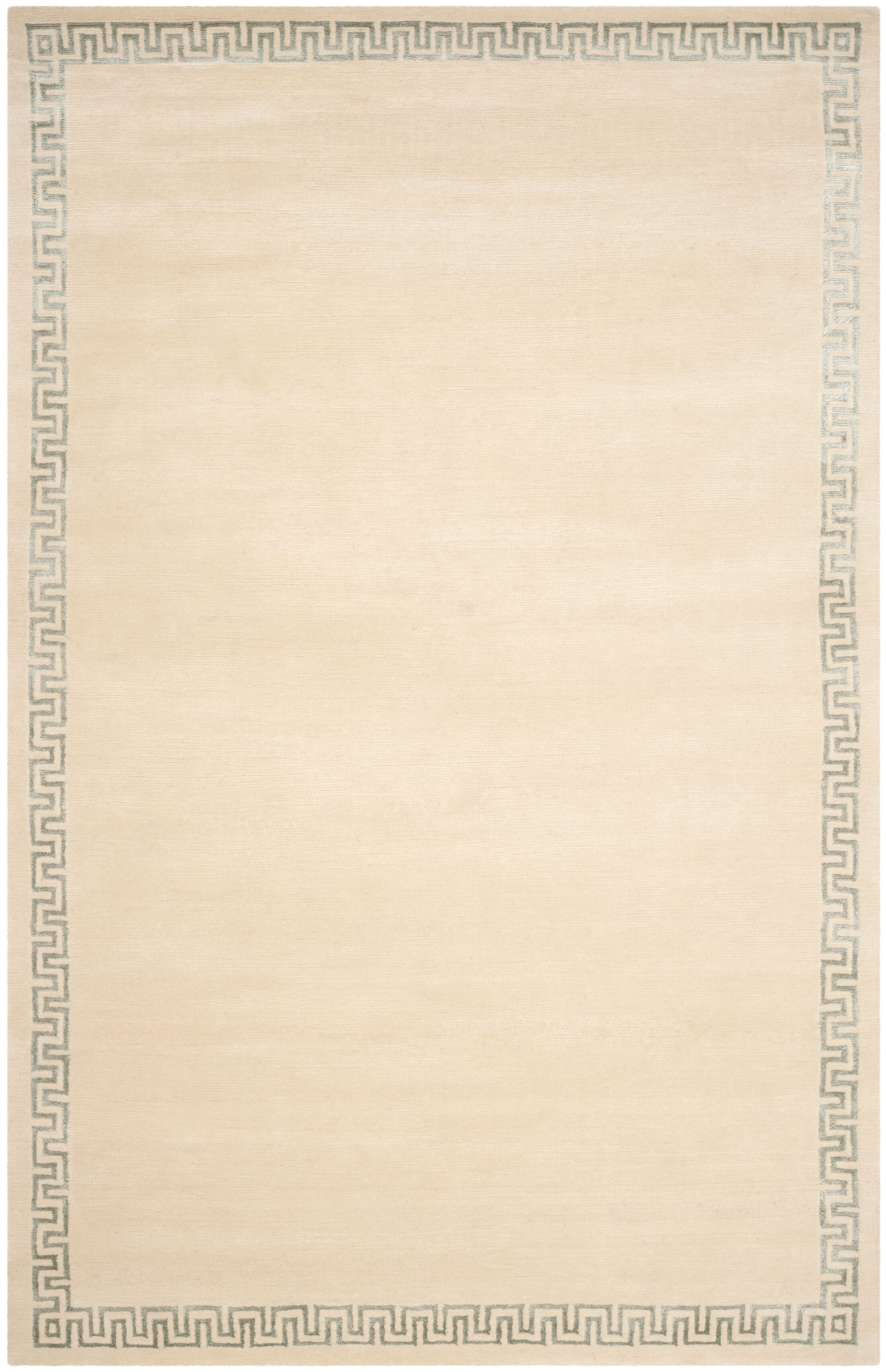Exmouth Hand-Knotted Beige Area Rug Rug Size: Rectangle 9' x 12'