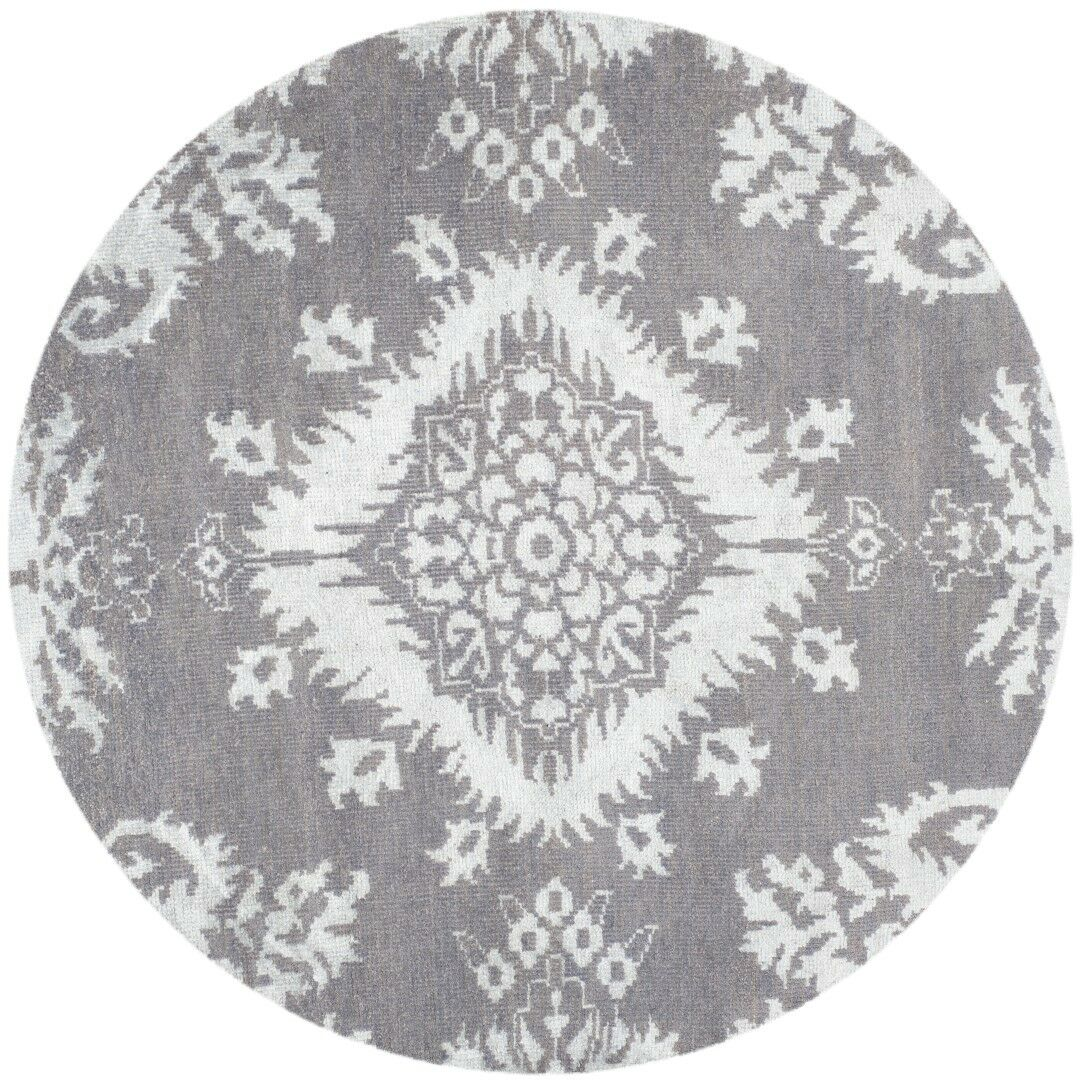 Bottesford Hand-Knotted Gray Area Rug Rug Size: Rectangle 8' x 10'