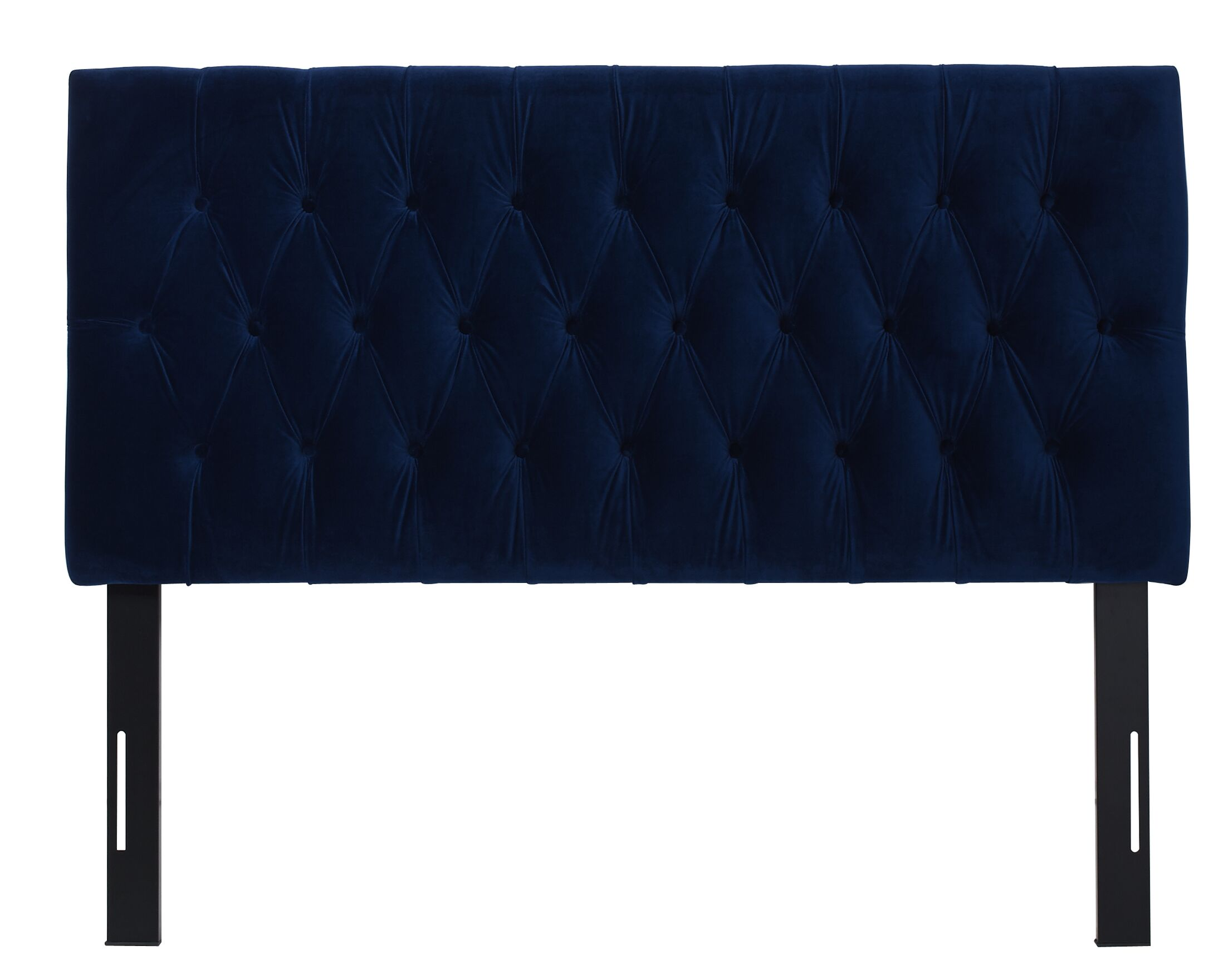 Hawtree Tufted Upholstered Panel Headboard Upholstery: Navy Blue, Size: Queen