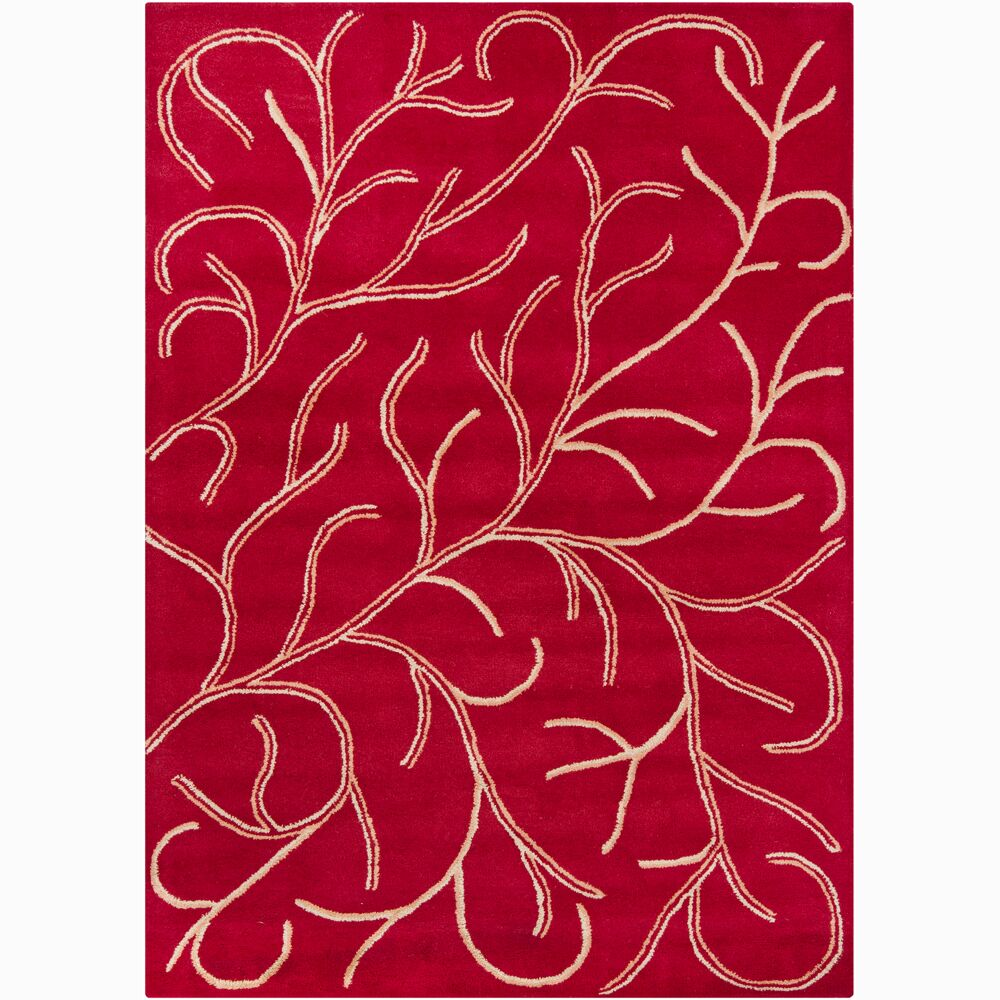 Gilda Coral Red Area Rug Rug Size: Rectangle 5' x 7'6