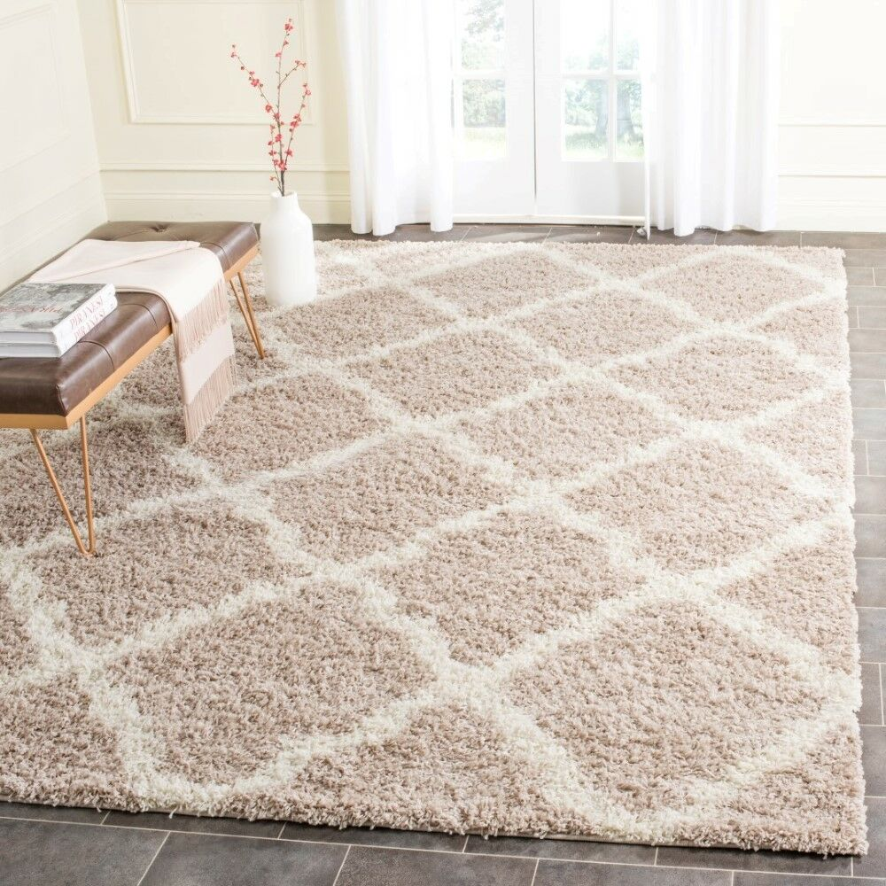 Fickes Beige/Ivory Area Rug Rug Size: Rectangle 8'6