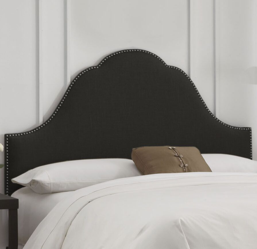 Rosecrans Nail Button Arch Upholstered Panel Headboard Size: California King, Color: Smokey Quartz