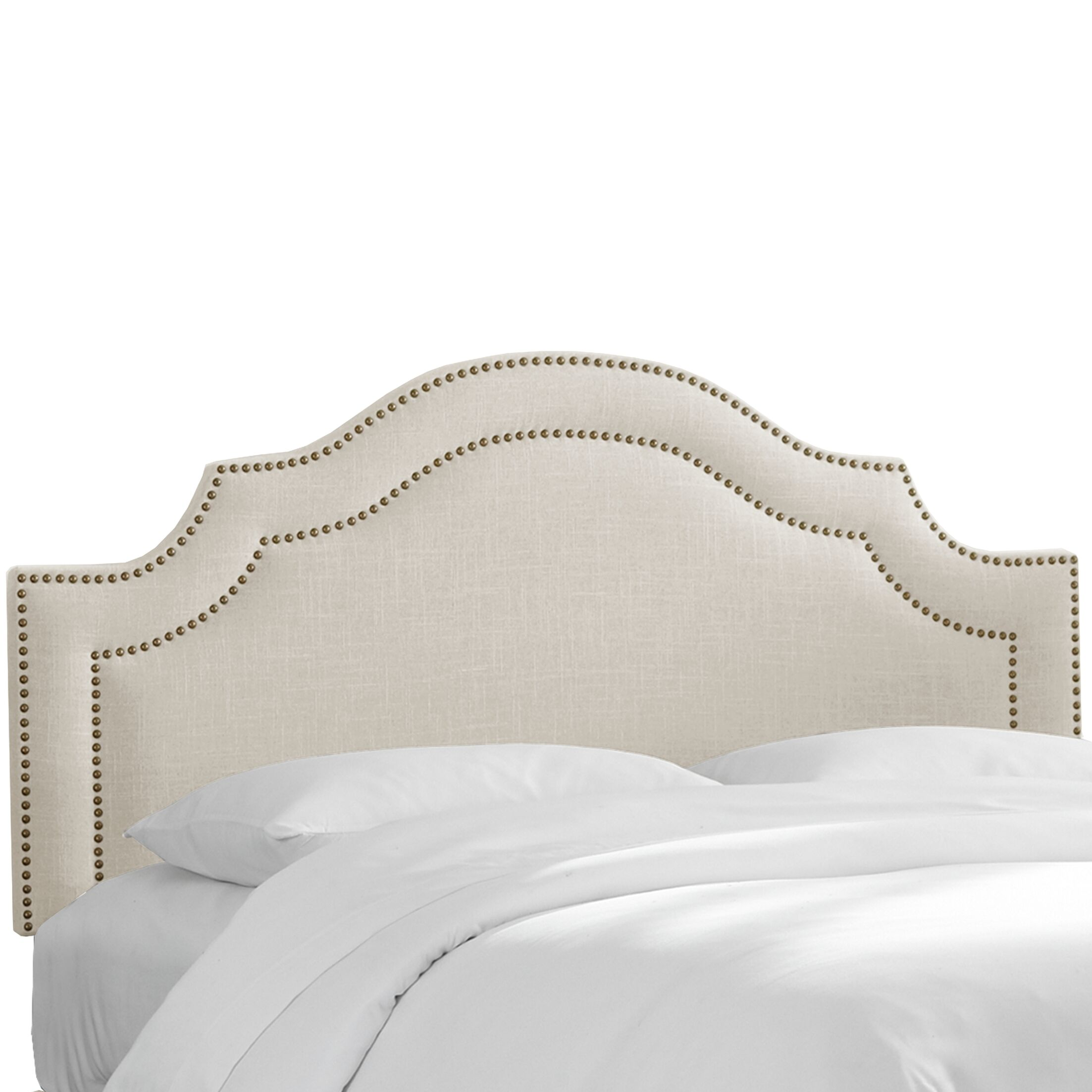 Fleischmann Arch Upholstered Panel Headboard Upholstery: Talc, Size: King