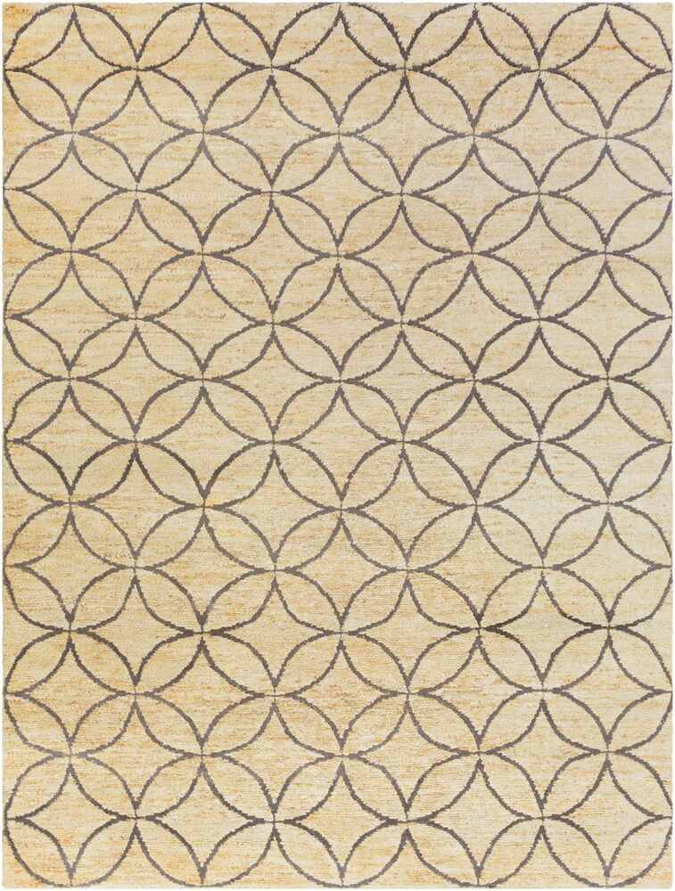 Shildon Hand-Knotted Beige Area Rug Rug Size: Rectangle 5' x 8'
