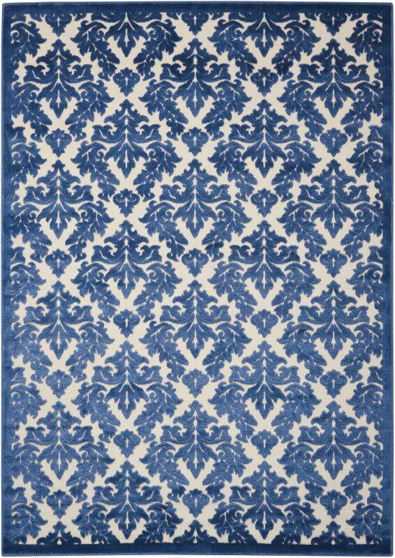 Hartz Ivory/Blue Area Rug Rug Size: Rectangle 7'9