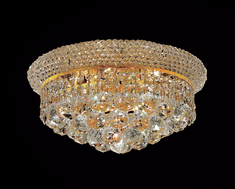Destanee 6-Light Flush Mount Finish: Gold, Crystal Grade: Strass Swarovski