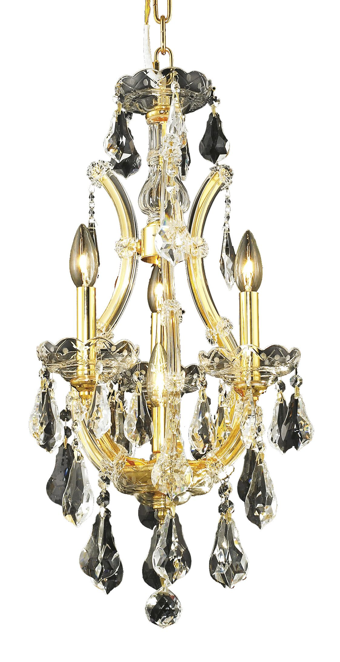 Hiott 4-Light Crystal Chandelier Finish / Crystal Finish / Crystal Trim: Gold / Crystal (Clear) / Strass Swarovski