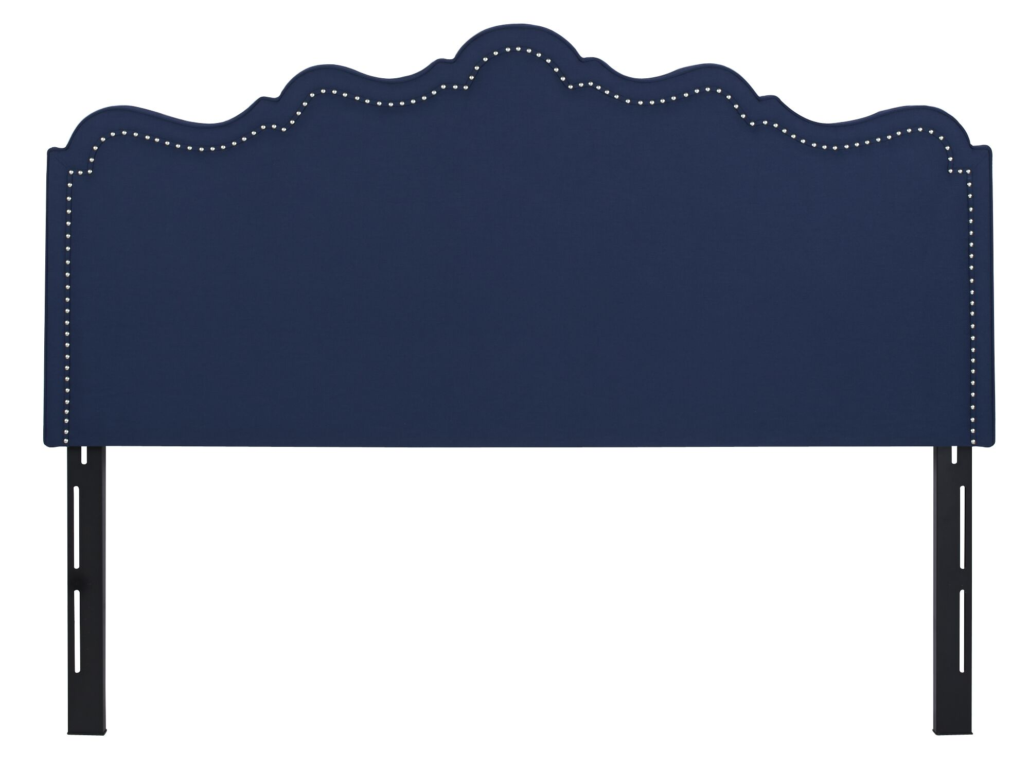Capucine Upholstered Panel Headboard Upholstery: Midnight Blue, Size: Queen