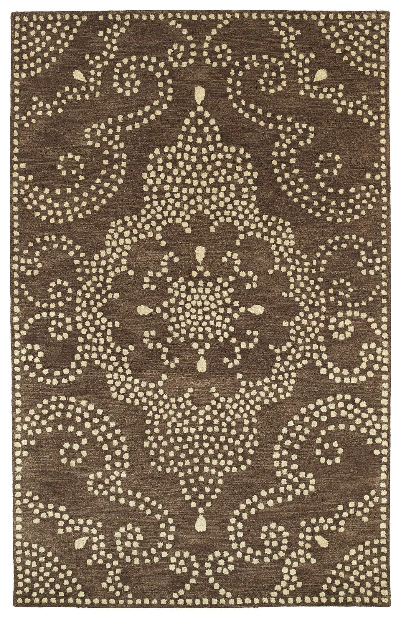 Bashford Hand Tufted Brown/Beige Area Rug Rug Size: Rectangle 5' x 7'9