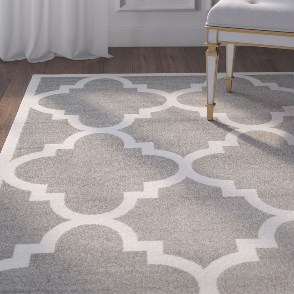 Maritza Dark Grey/Beige Indoor/Outdoor Area Rug Rug Size: Rectangle 5' x 8'