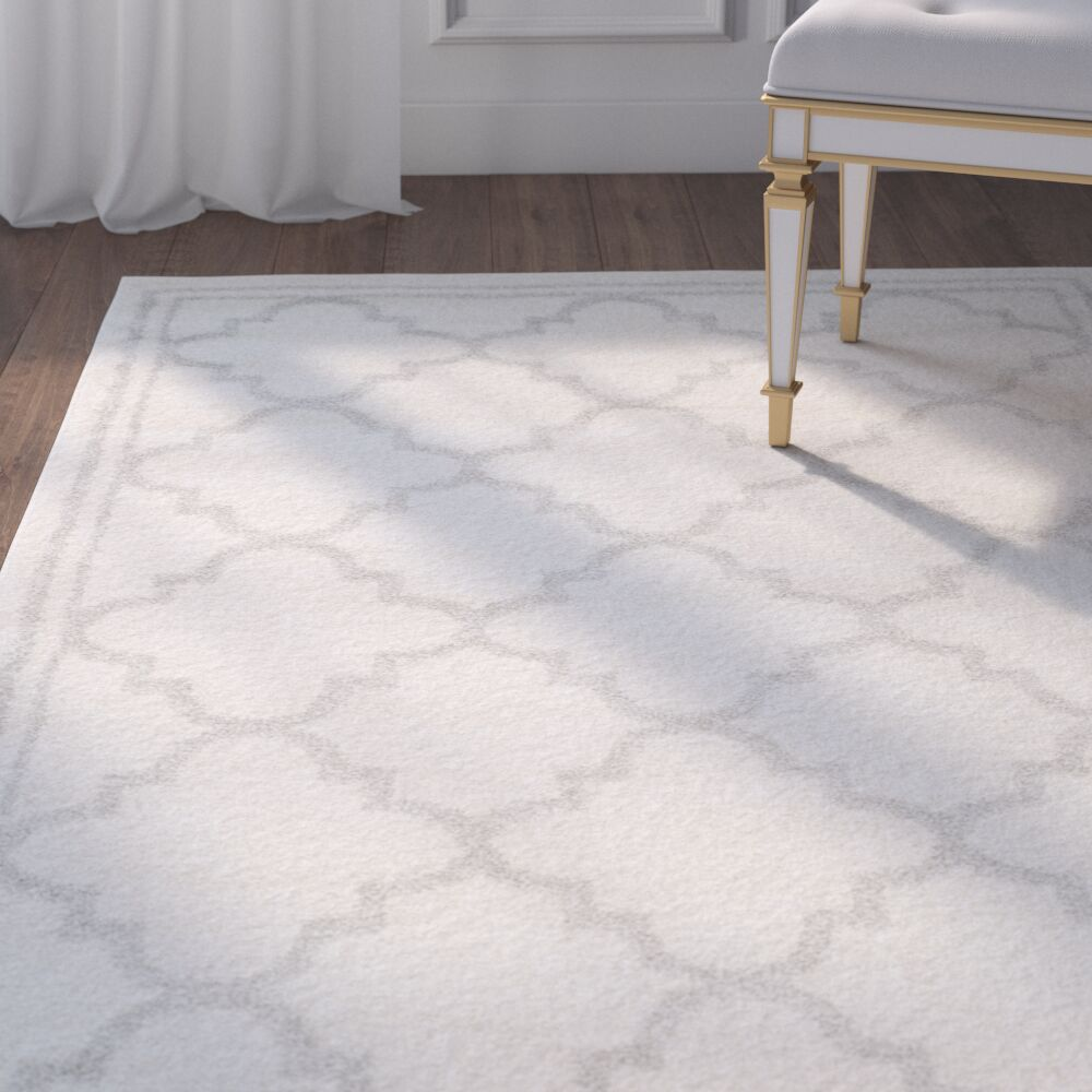 Maritza Beige/Light Grey Area Rug Rug Size: Rectangle 10' x 14'
