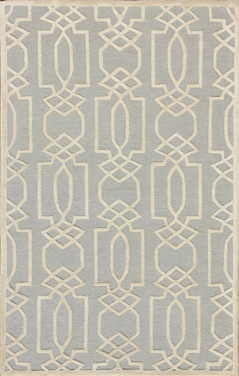 Mcguire Hand-Tufted Gray/Ivory Area Rug Rug Size: Rectangle 6' x 9'