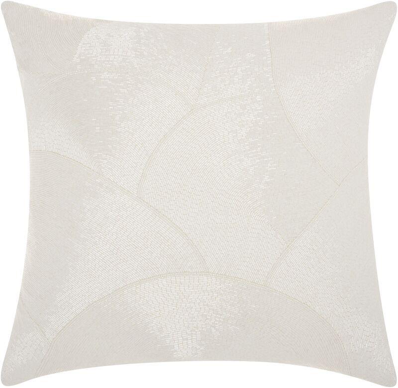 Sharonda 100% Cotton Throw Pillow Color: White