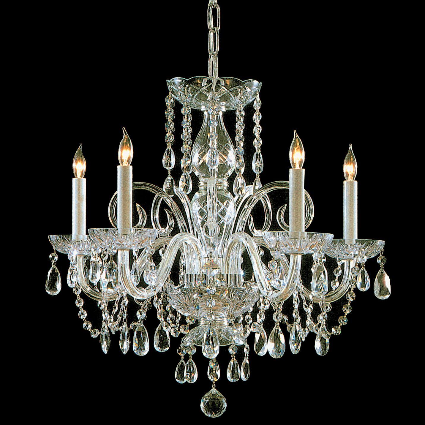 Caledonian 5-Light Candle Style Chandelier Finish: Polished Brass