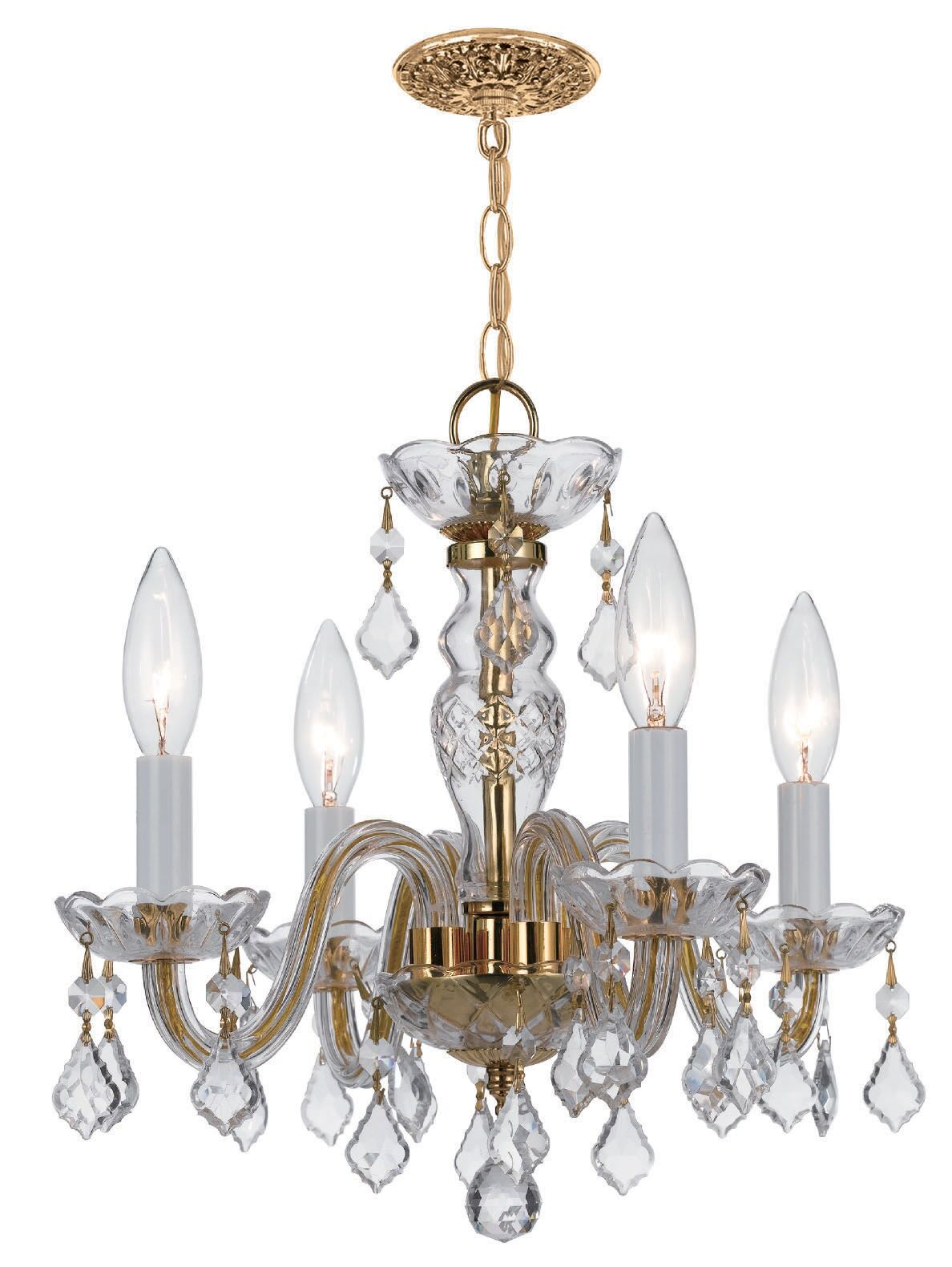 Careen 4-Light Candle Style Chandelier Finish: Polished Chrome, Crystal Type: Swarovski Elements