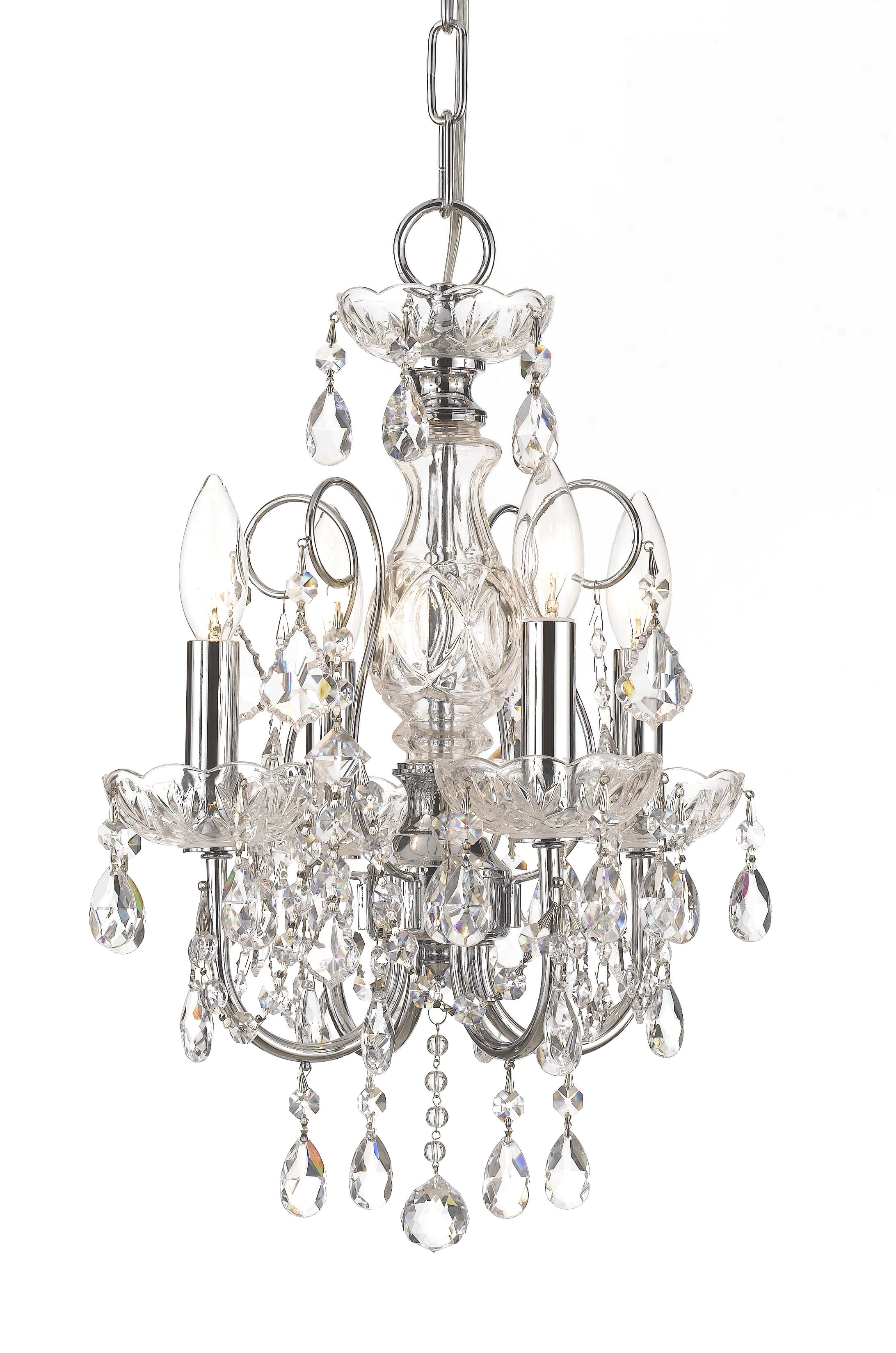 Axton 4-Light Candle Style Chandelier Crystal: Swarovski Strass