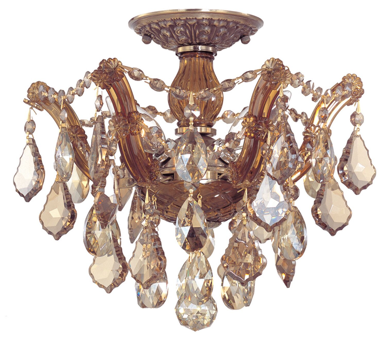 Griffiths 3-Light Semi Flush Mount Finish: Polished Chrome, Crystal Type: Swarovski Spectra