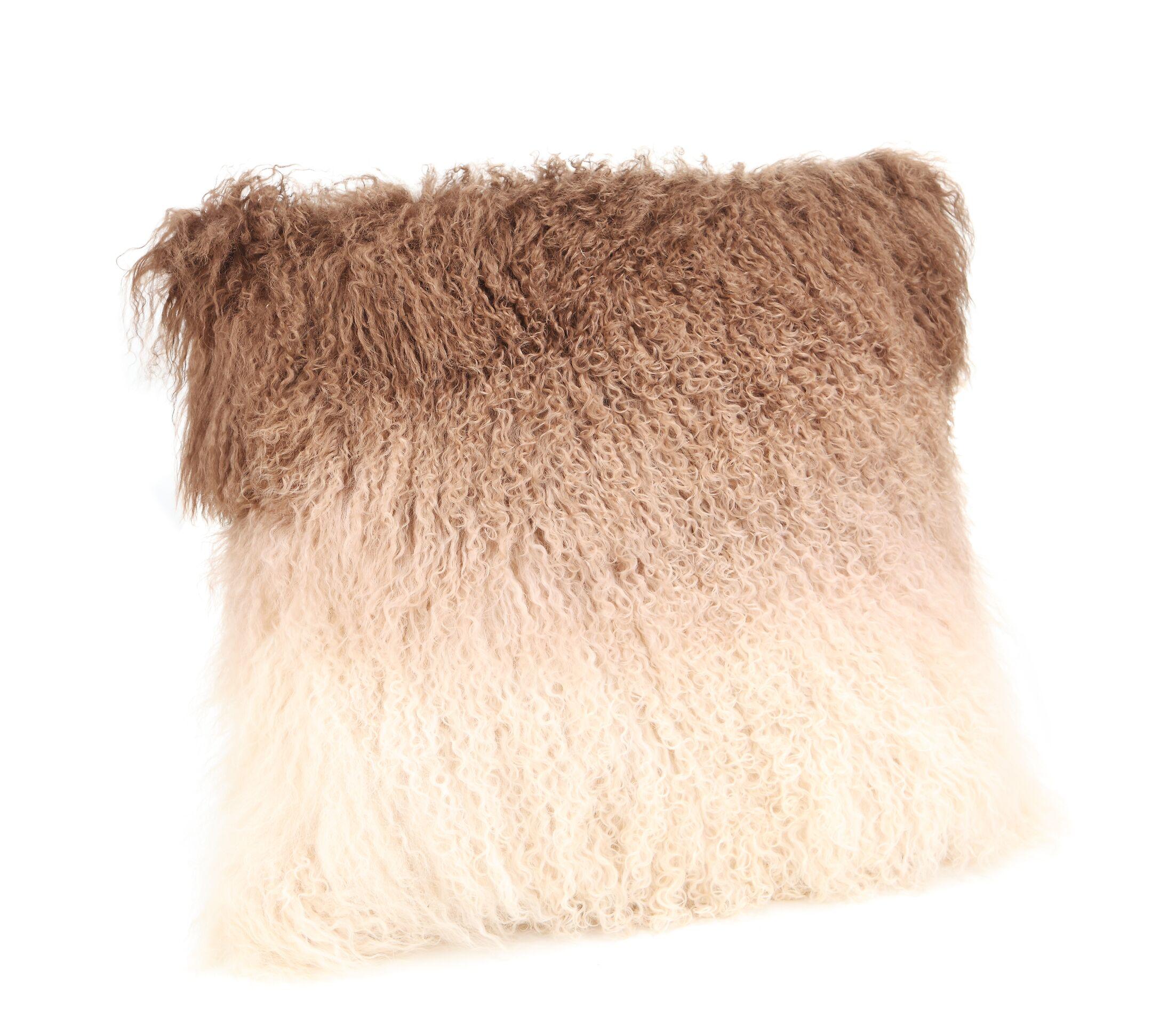 Elisha Spectrum Throw Pillow Color: Brown
