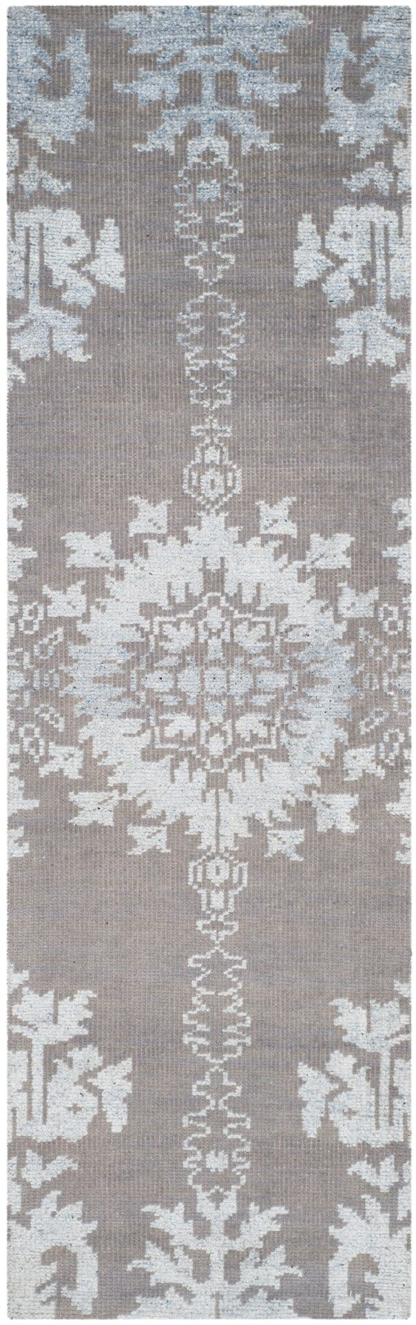 Bottesford Hand-Knotted Gray Area Rug Rug Size: Runner 2'6