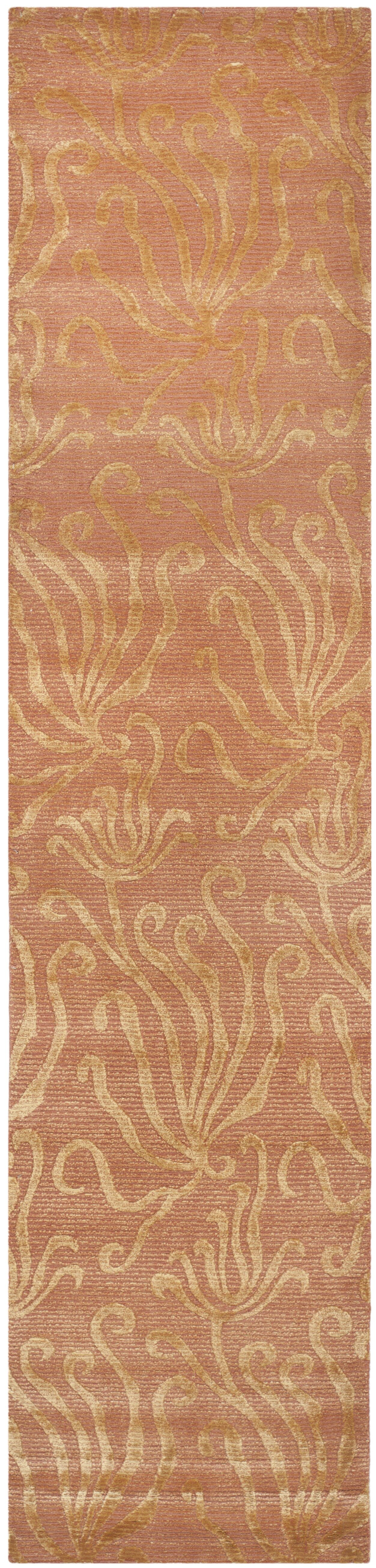 Seaflora Hand-Tufted Brown/Gold Area Rug Rug Size: Runner 2'3