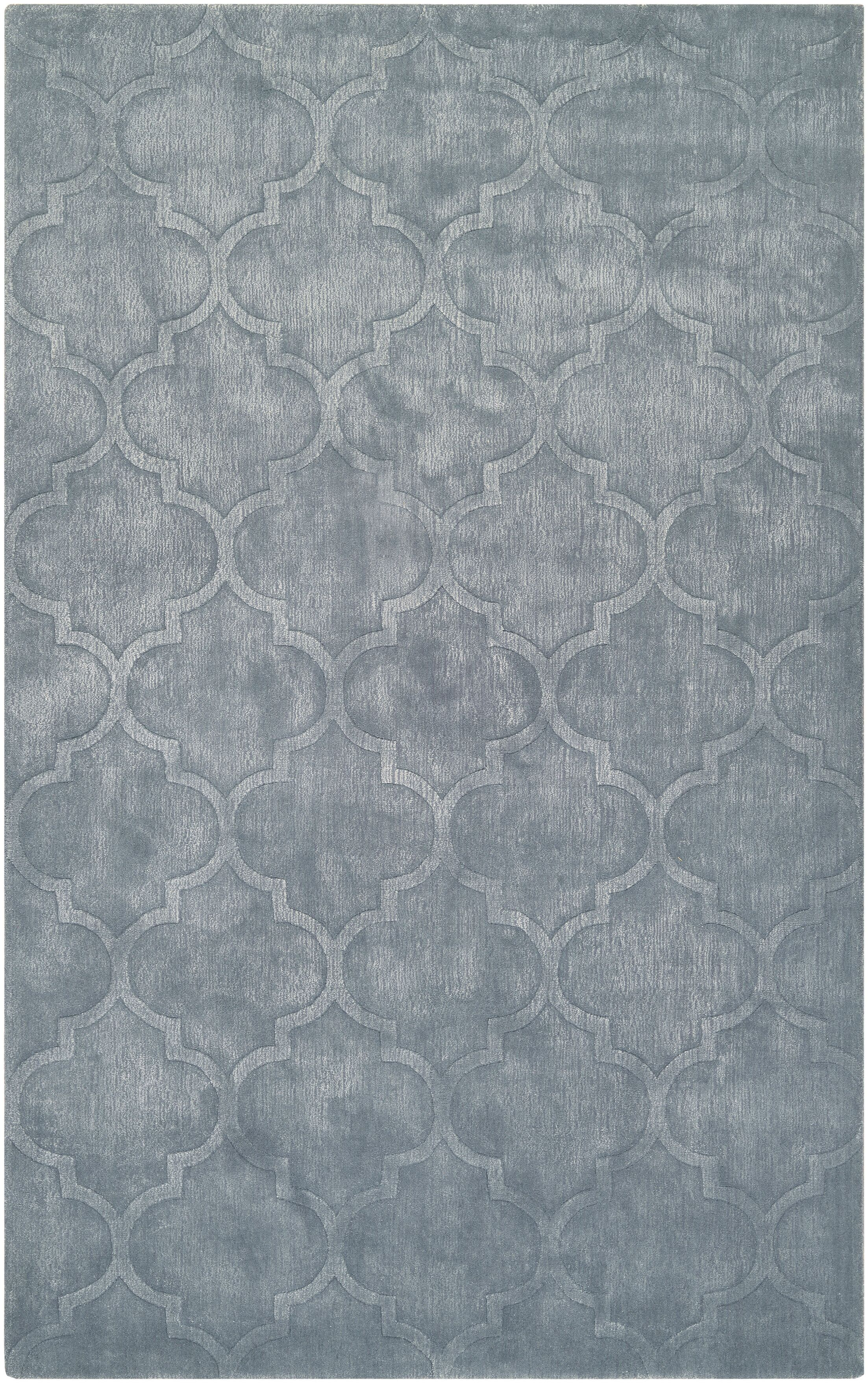 Tarquin  Hand-Loomed Ice Blue Area Rug Rug Size: Rectangle 5' x 8'