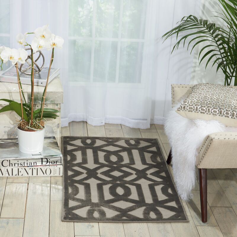 Hartz Beige/Gray Area Rug Rug Size: Rectangle 7'9