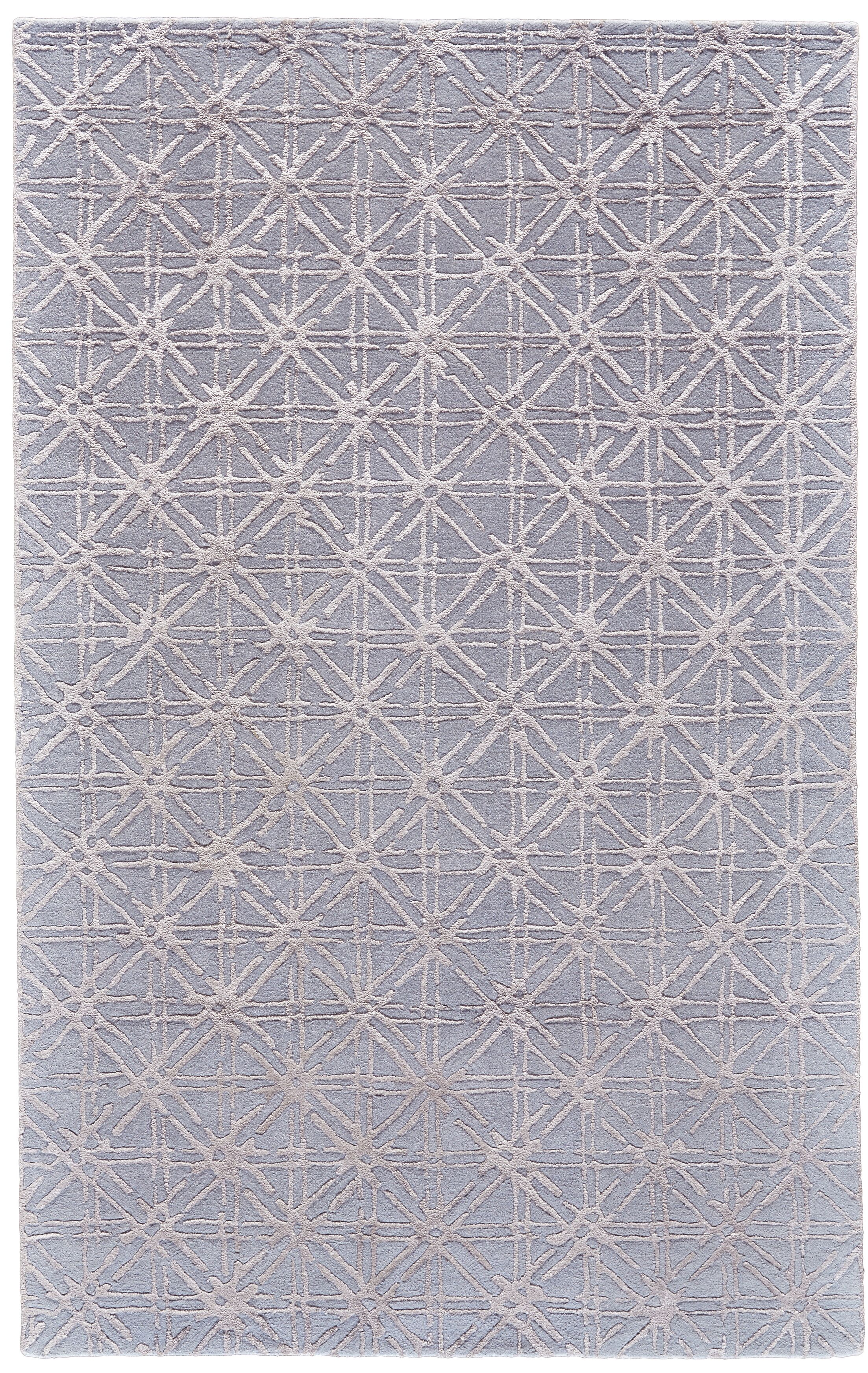Gloria Hand-Tufted Blue/Beige Area Rug Rug Size: Rectangle 3'6