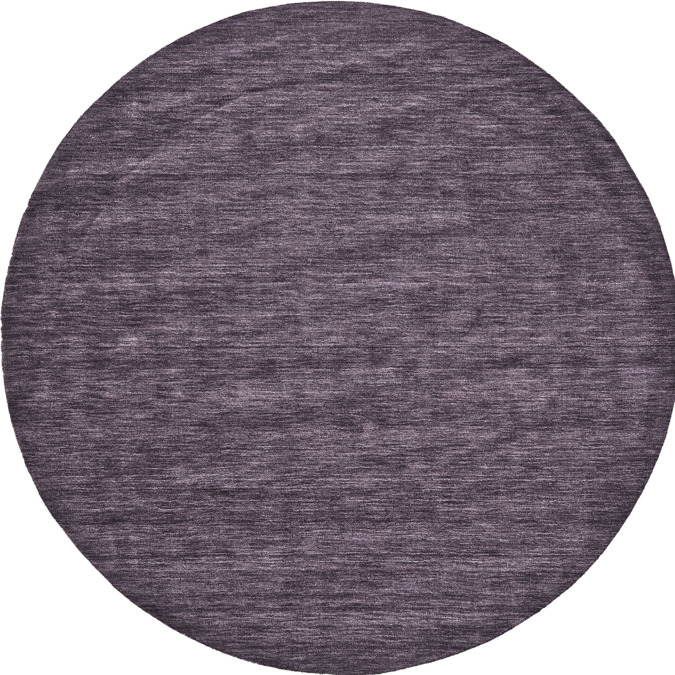 Diandra Hand-Loomed Purple Area Rug Rug Size: Round 10'