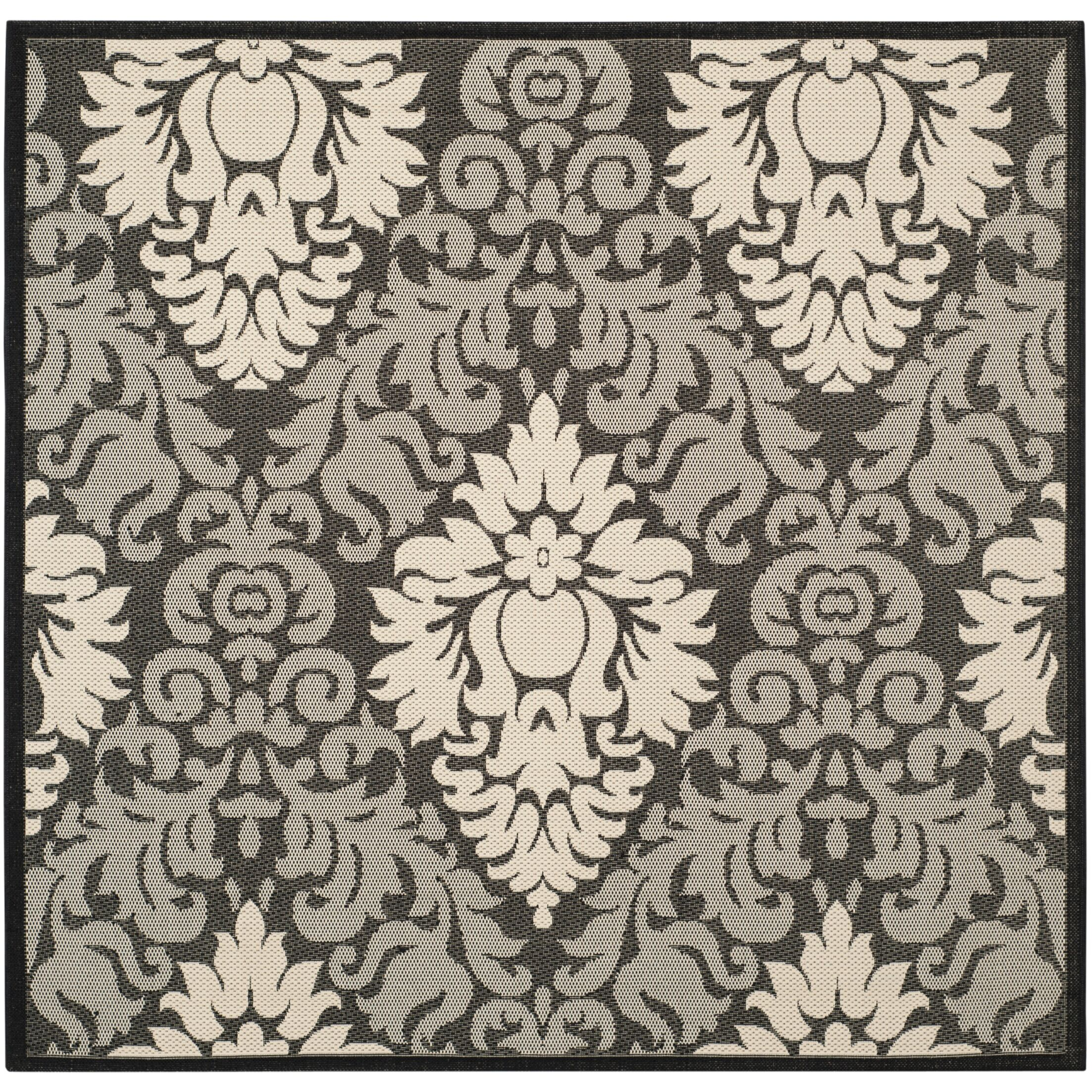 Jarrow Black/Sand Outdoor Rug II Rug Size: Square 7'10
