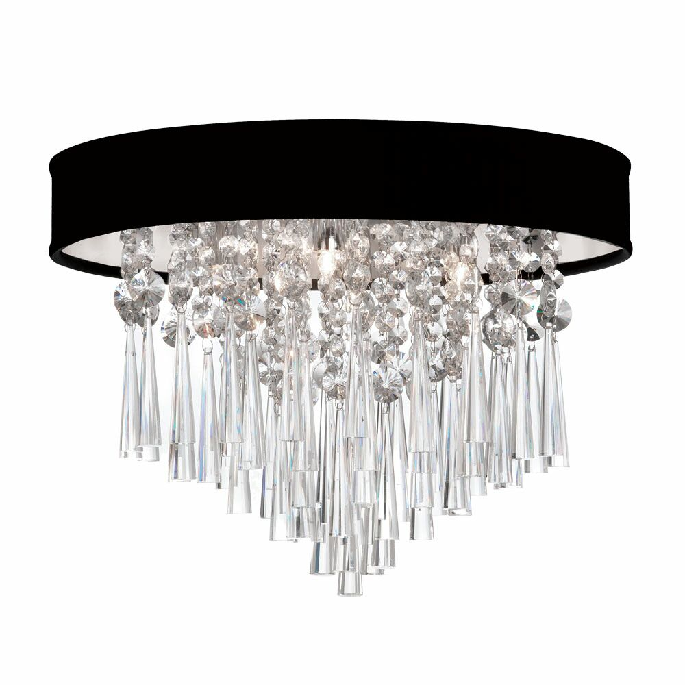 Deston 3-Light Flush Mount Shade Color: Black