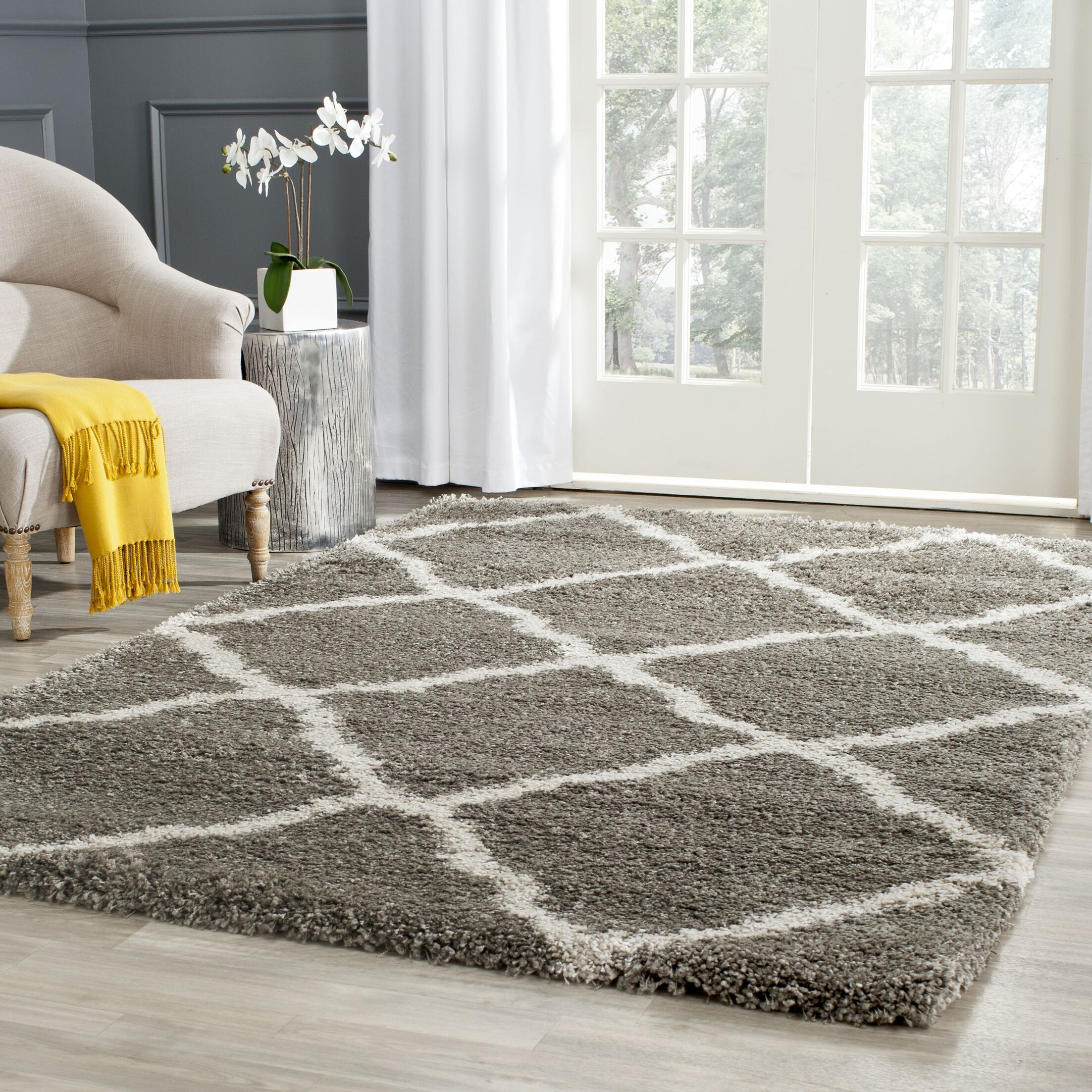 Charmain Grey & Taupe Area Rug Rug Size: Rectangle 2'3
