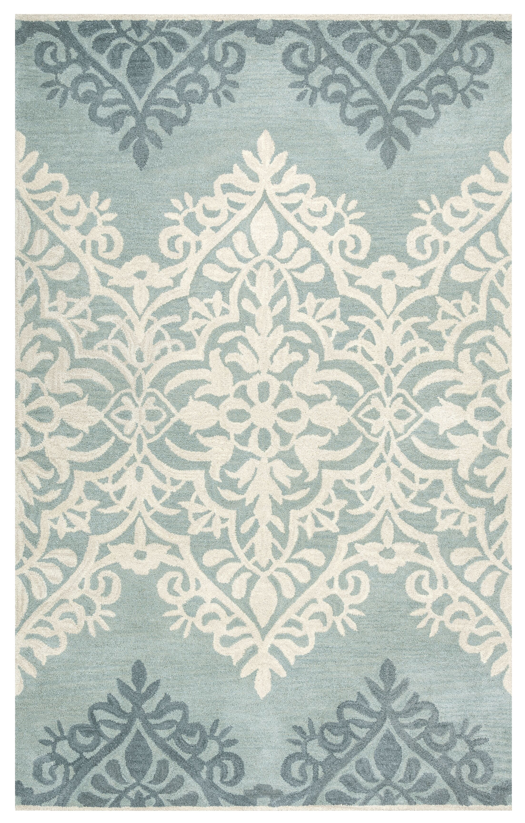Southwell Hand-Tufted Blue/Green Area Rug Rug Size: Rectangle 9' x 12'