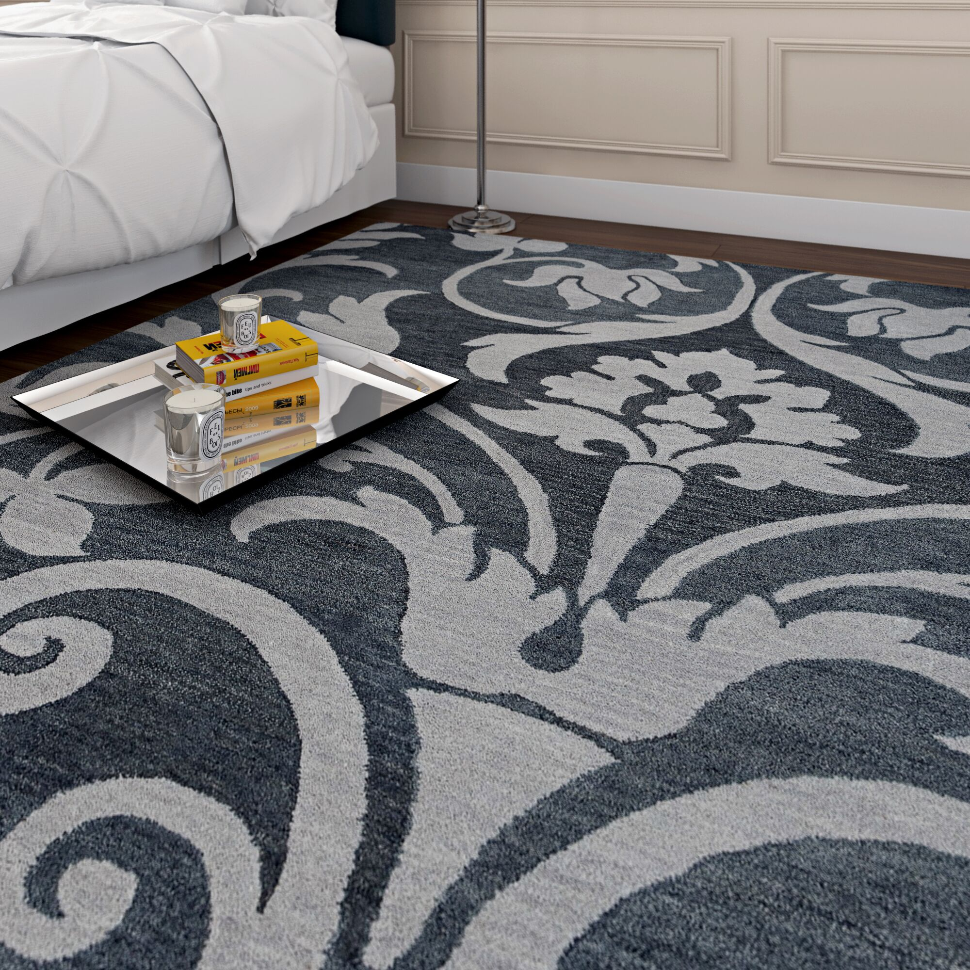 Southwell Hand-Tufted Gray Area Rug Rug Size: Runner 2'6